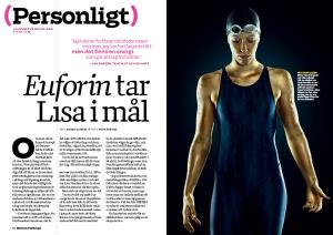 I juni porträtterade Modern Psykologis Agnes Dunder Lisa Nordén inför sommar-OS 2012. Foto: Per Kårehed.