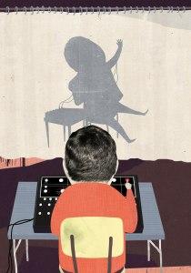 Stanley Milgrams forskning har kritiserats också för bristande etik. Numera anses det oetiskt att under falska förutsättningar leda människor in i situationer där de visar sig beredda att döda. Illustration: Jens Magnusson.