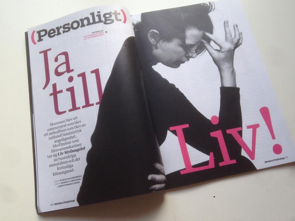 Liv Strömquist fotograferad av Henric Lindstedt och Joel Nilsson, två av de fotografer som Modern Psykologis formgivare Agnes Dunder samarbetar tätast med.