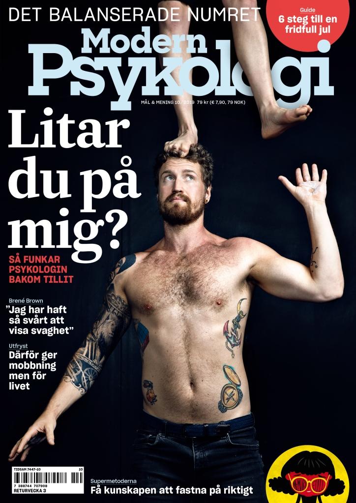 Modern Psykologi 10/2019 kommer ut 4 december. Omslagsfoto: Joel Nilsson.