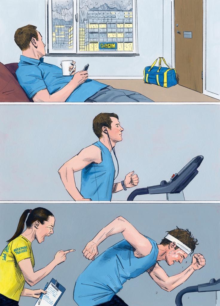 Artikeln om träningsmotivation publicerades först i Modern Psykologi 1/2020. Illustration:Graham Samuels.